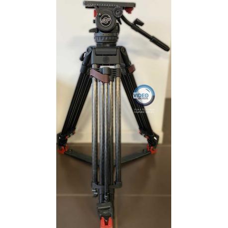 Sachtler System 20 S1 HD CF - Video 20 fluid head with heavy-duty carbon fiber tripod