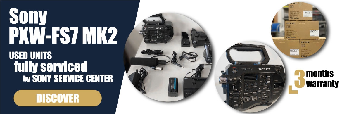 Sony PXW-FS7 Mark II - XDCAM camcorder fully serviced by Sony service center